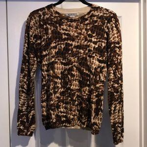 Cabi animal print sweater